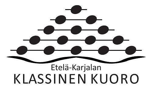 Klassisen kuoron mustavaloinen logo
